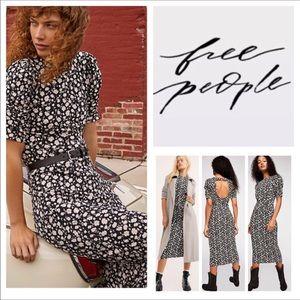 🆕Free People Rosie Knit Printed Midi Dress. NWOT.